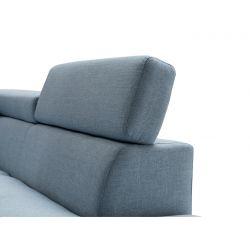Canapé d'angle droit style scandinave en tissu
