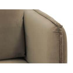 Canapé d'angle réversible, convertible en velours et pieds noyer avec coffre