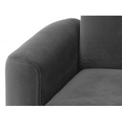 Canapé d'angle réversible, convertible en velours et pieds noirs avec coffre
