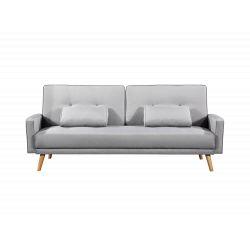Canapé droit 3 places scandinave convertible en tissu