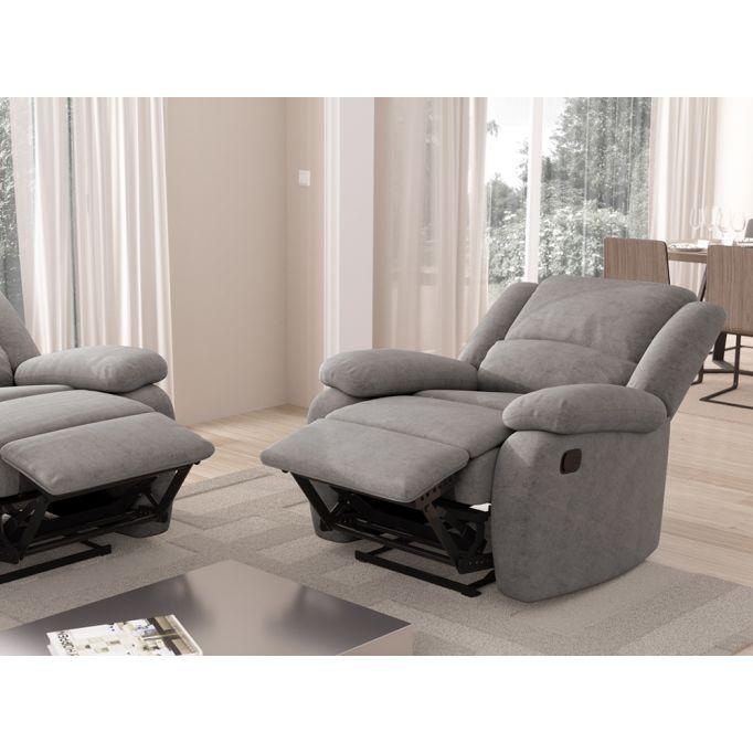 9121 - Fauteuil de relaxation manuel en microfibre
