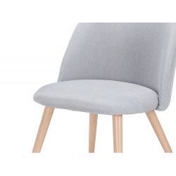 Lot de 2 chaises en tissu et pieds métal