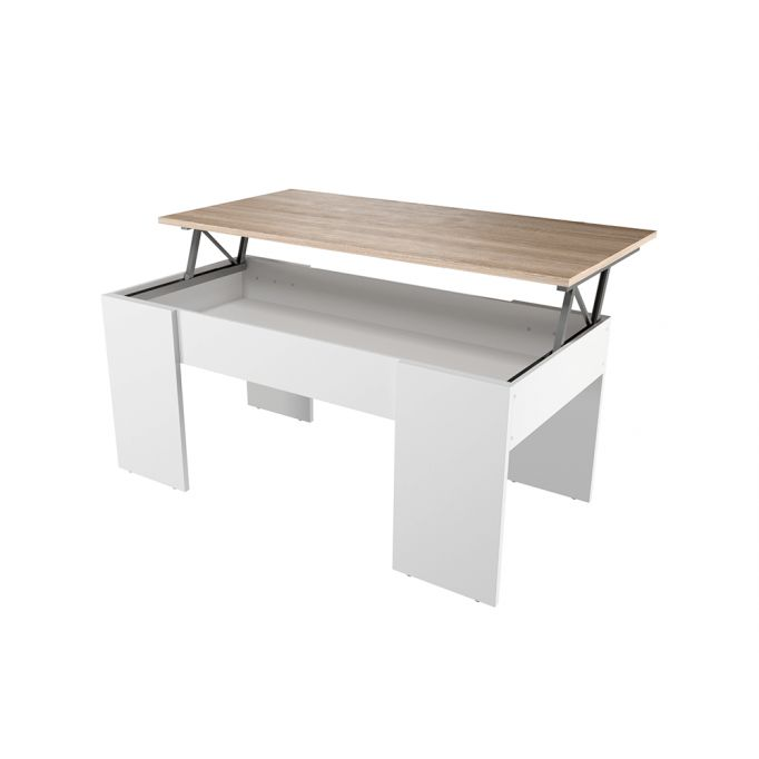 Table basse avec plateau relevable