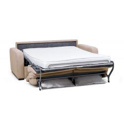 CAROLE - Canapé convertible système couchage express 3 places en tissu