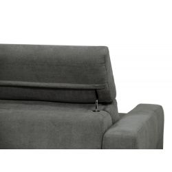 MINA - Canapé convertible système couchage express 3 places en tissu