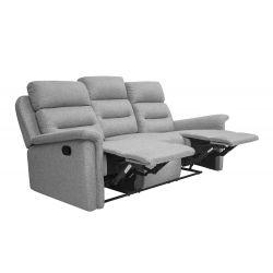 9222 - Canapé 3 places de relaxation en tissu
