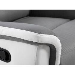 9222 - Fauteuil de relaxation en microfibre et simili