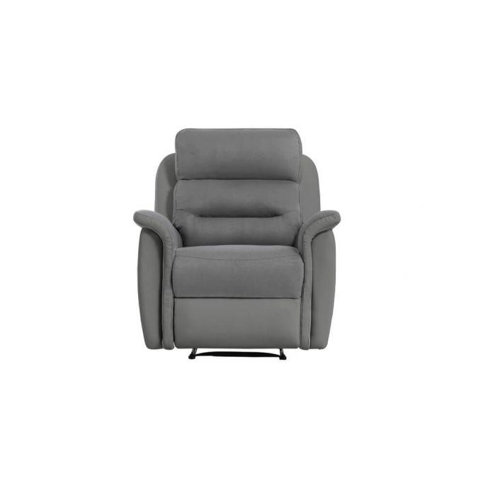 9222 - Fauteuil de relaxation manuel en simili et microfibre