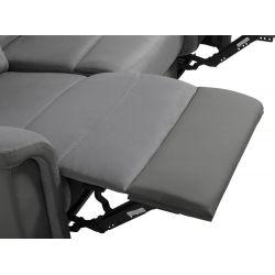 9222 - Canapé 3 places de relaxation en microfibre et simili