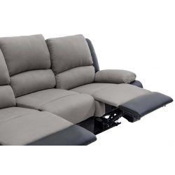9121EE - Canapé de relaxation électrique 3 places en microfibre et simili