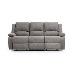 9121EE - Canapé de relaxation électrique 3 places en microfibre