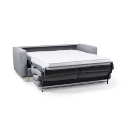 BOLI - Canapé convertible système couchage express 3 places scandinave en tissu