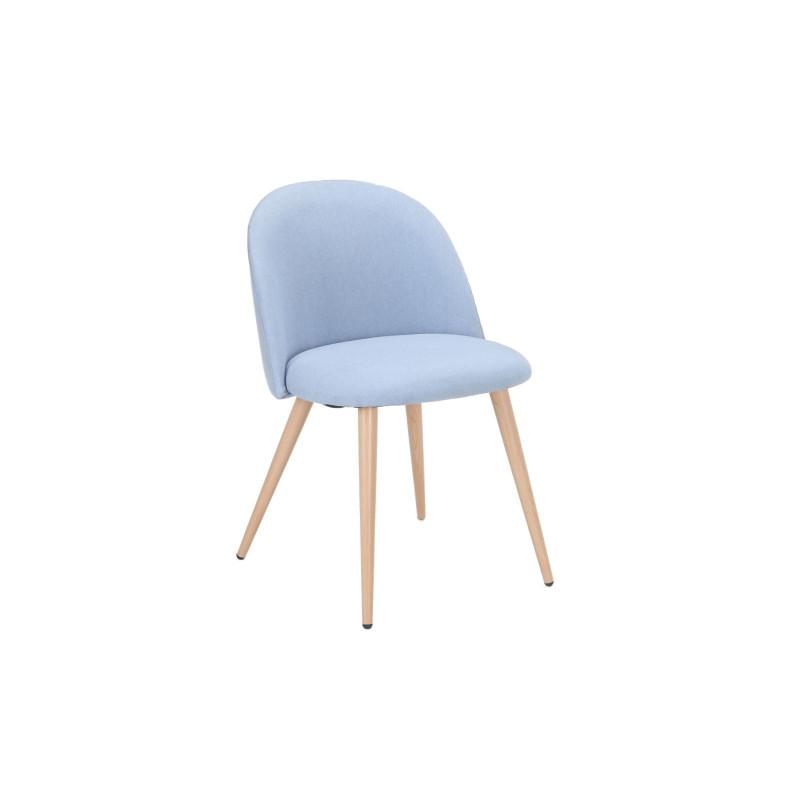 Chaise en tissu et pieds métal