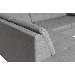 GAIA - Canapé d'angle convertible en tissu