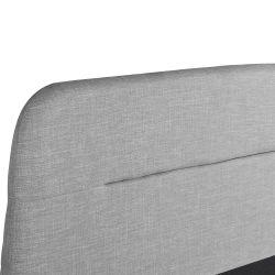 BALTA  -  Cadre de lit avec coffre et tête de lit en tissu