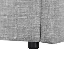 1492D - Cadre de lit avec tête de lit, sommier à lattes et 2 tiroirs en tissu