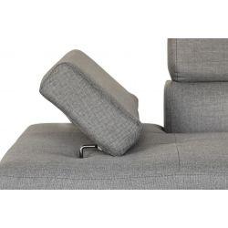 RIO - Canapé d'angle convertible 5 places avec coffre de rangement en tissu