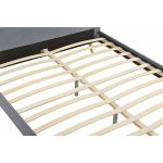 1202 - Cadre de lit scandinave avec tête de lit et sommier à lattes en tissu