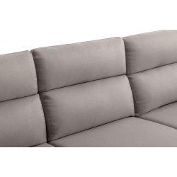 JOE - Canapé d'angle réversible convertible avec coffre en tissu