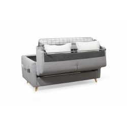 TAMY - Canapé couchage rapide en tissu 3 places