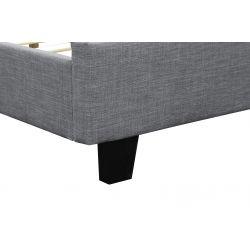 1425 - Cadre de lit avec tête de lit et sommier à lattes en tissu