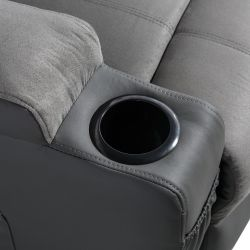 FAR03 - Fauteuil de relaxation électrique releveur massant chauffant en microfibre et simili