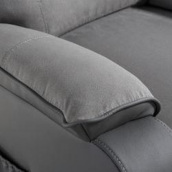 FAR06 - Fauteuil de relaxation éléctrique releveur massant chauffant en microfibre et simili