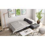 JONAS - Canapé d'angle convertible et réversible 4 places en  tissu