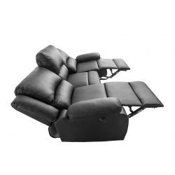 9121EE - Canapé de relaxation électrique 3 places en simili