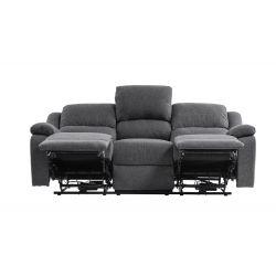 9121EE - Canapé de relaxation électrique 3 places en tissu