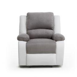 9121 - Fauteuil de relaxation manuel en microfibre et simili