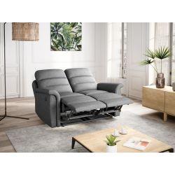 9222 - Canapé de relaxation manuel  2 places en tissu