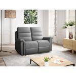 9222 - Canapé de relaxation manuel  2 places en simili et microfibre