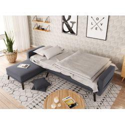 ORIZON - Canapé d'angle réversible convertible et pieds bois