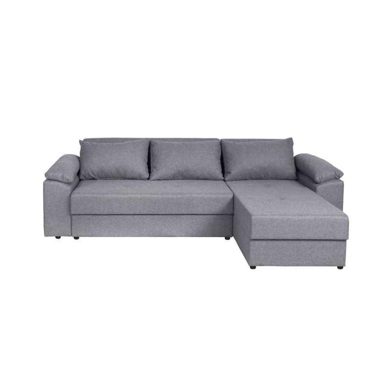 BENITO - Canapé d'angle réversible et convertible en tissu