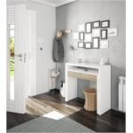 Bureau console extensible 2 tiroirs L100 cm