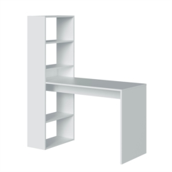 Bureau réversible avec étagère de rangement intégrée (5 niveaux) L120 cm