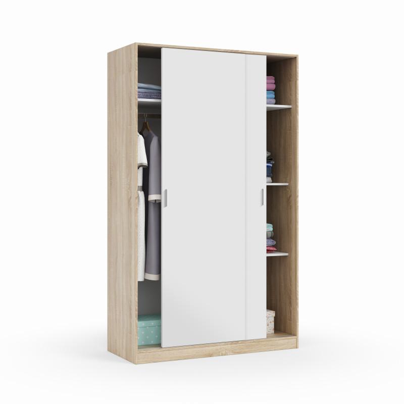 Armoire penderie design 2 portes coulissantes L120 x H200 cm