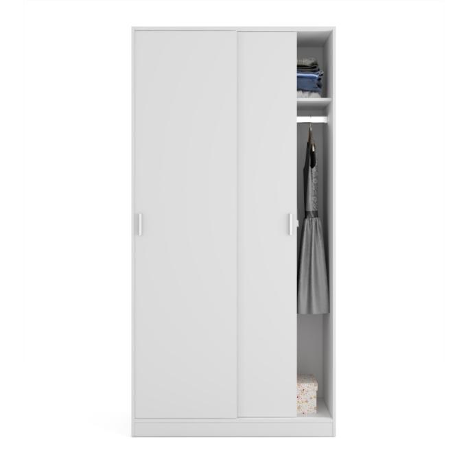 Armoire penderie 2 portes coulissantes L100 x H200 cm