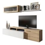 Meuble TV 2 portes avec étagère murale L200 cm