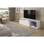 Meuble TV LED 1 porte et 4 niches L150 cm