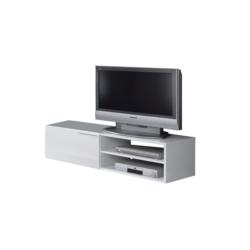 Meuble TV 1 porte battante et 2 niches de rangement L130 cm