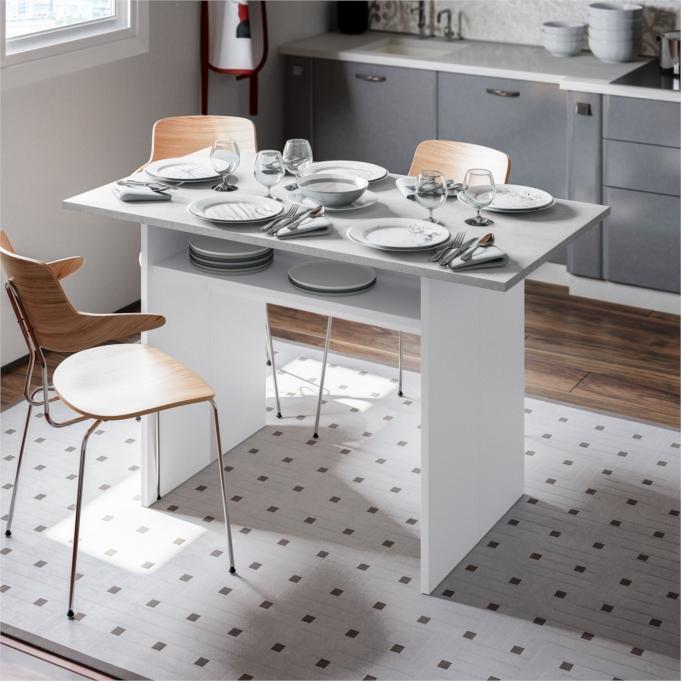 Table auxiliaire extensible L120 x P35/70 cm