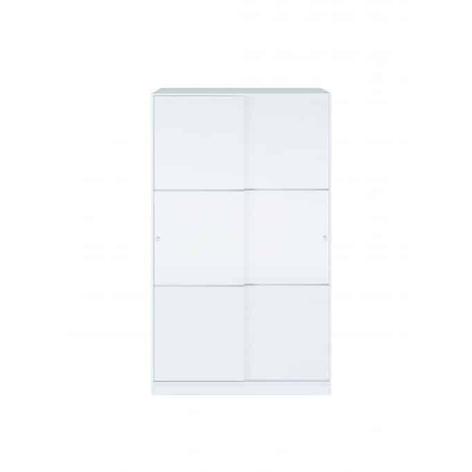Armoire penderie 2 portes coulissantes L120 x H200 cm