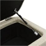 WSS964 - Bout de lit avant rangement en tissu pieds épingles noirs