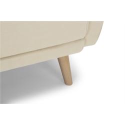KAPITO - Canapé d'angle réversible convertible en tissu avec pieds bois clair