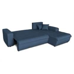 CELIA - Canapé d'angle convertible 4 places en tissu