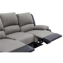 9121 - Canapé de relaxation 3 places en microfibre et simili