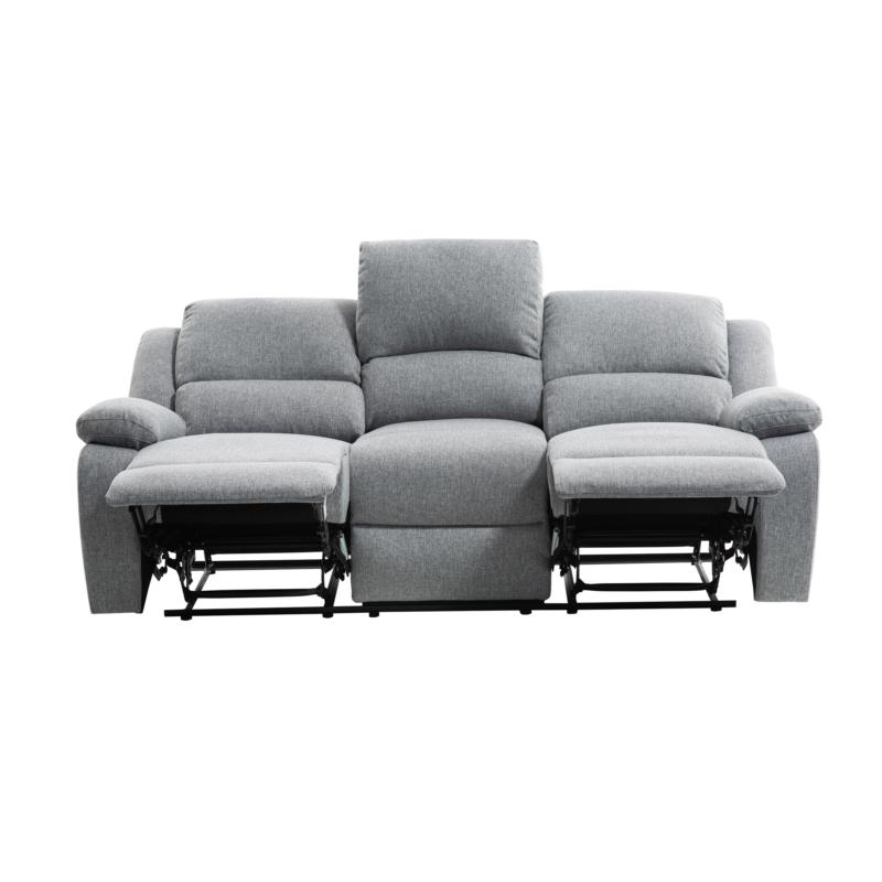 9121 - Canapé de relaxation manuel 3 places en tissu
