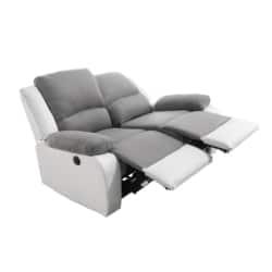 9121 - Canapé de relaxation 2 places en microfibre et simili